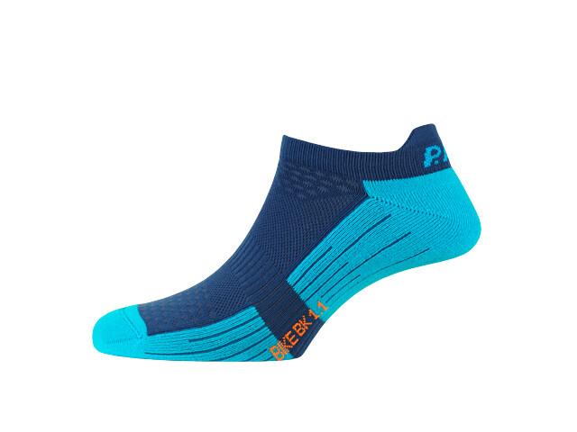 P.A.C. BK 1.1 Bike Footie Zip Socks Women neon blue